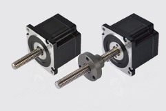Size 34H 86mm hybrid stepper motor linear actuators