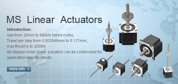 stepper motor linear actuators